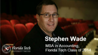 Stephen Wade, MBA in Accounting, Class of 2014