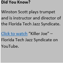 "Click to watch ""Killer Joe"" – Florida Tech Jazz Syndicate on YouTube"