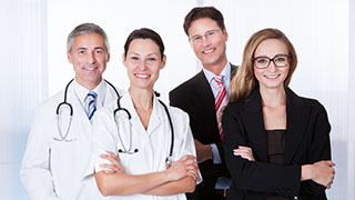 image representing individuals with a master's degree in healthcare administration