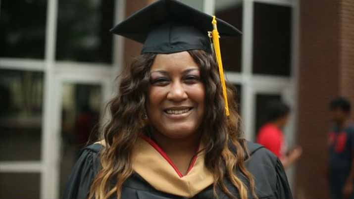 Crystal Wilson, Single Mom and Working Full-Time Graduates with MBA