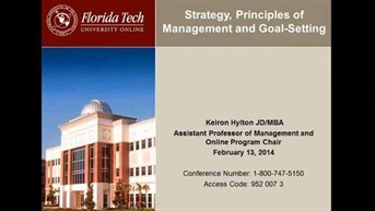 Principles of Management and Goal-setting